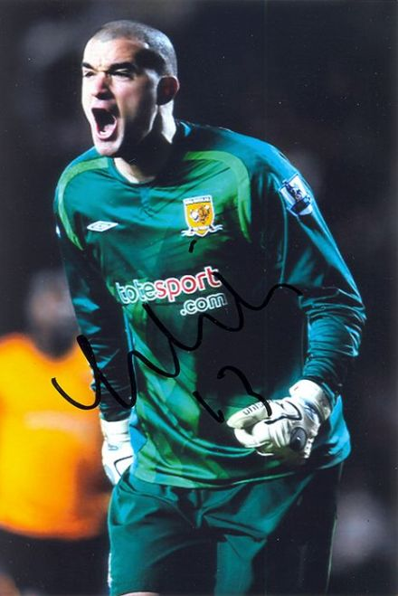 Boaz Myhill, Hull City, signed 6x4 inch photo.